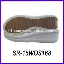 Pu материал дама толстый подошва плоский обувь леди толстый подошва повседневная обувь обувь подошва