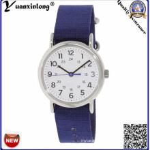 Yxl-135 Promotional Nylon Canvas Watches Casual Ladies Dress Watch Blue Strap Vogue Women Wrist Watch Lady