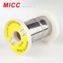 MICC Ni80Cr20 alambre de resistencia plana brillante