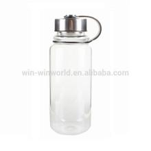 Botella de agua potable soplada a mano al por mayor del vidrio de Pyrex del Borosilicate 1L