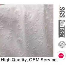 Wept Knitting Polyester Coton Elastane Floral Jacquard Fabric Wholesale