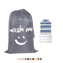 Eco-friendly OEM Customized Promotional Printing logo Drawstring Dirty waterproof Nylon Laundry Bag