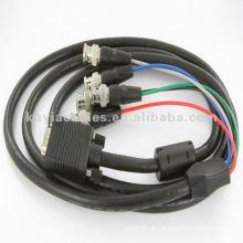1.8M solo M / M de extensión de vídeo VGA BNC Cable para HDTV