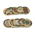 USA Metal Pressing Guard Protector Monedas de Chip de Poker