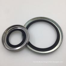 Selo do bordo de 40 * 55 * 8 PTFE com anel de aço inoxidável para as bombas de compressores