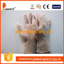 Gants de travail, gants d'examen en vinyle transparent, sans poudre (DPV701)