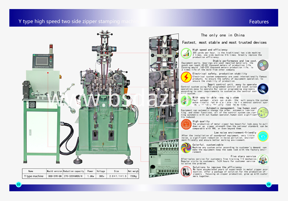 Y TYPE ZIPPER MACHINE-1