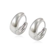 97345 xuping cheap wholesale high quality rhodium plated plain elegant ladies hoop earrings