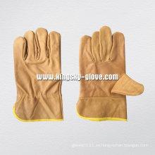 Guante de trabajo de cuero de los muebles-4009
