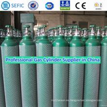 Cilindro de gas de acero sin costura de alta presión 40L (ISO204-40-20)