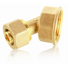 T206 Brass Fitting for Gas Pipeline, 45 Degree Elbow