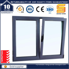 2015 Hot Sell Aluminium Double Casement Window with Double Toughened Glass
