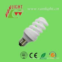 T2 compacto completo espiral 11W CFL, luz de poupança de energia