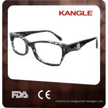 2017 Newest Design diamond Lady acetate optical glasses & eyeglasses