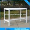 Новый продукт белый прямоугольник сада ротанга бар стол