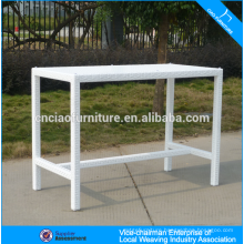 New product white rectangle garden rattan bar table