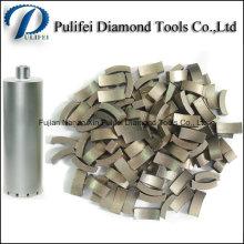 Segment de diamant de peu de foret de V supérieur pour le foret de main pour le perçage de mur concret de plancher