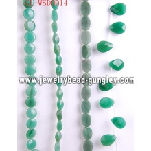 Gemstone jewellery accessory bead with dyed color