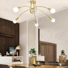 Hot sale 5 head Luxury Ceiling Chandelier Lighting Fixtures metal Pendant Lamp