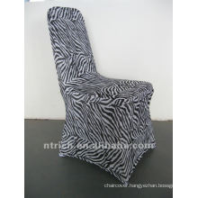 zebra print chair cover,CTS878,fit all chairs,wedding,banquet,hotel chair cover,sash and table cloth