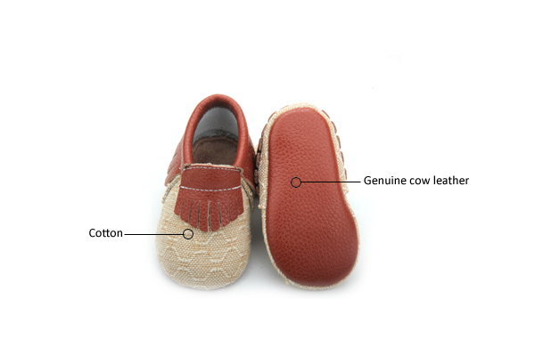 Real Leather Baby Moccasins