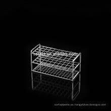 Rack de tubos de ensayo de acero inoxidable / Rack de tubos centrífuga 6/8/10 agujeros