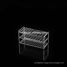 stainless steel test tube rack with steel plate