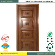 Dormitorio de madera Simple puerta de madera de puerta de madera sapele