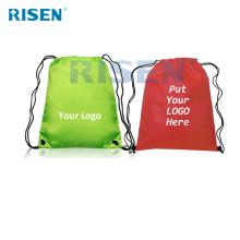 customized logo canvas drawstring backpack