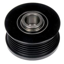 black precision grooved pulleys with inserts