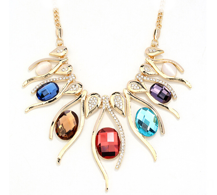 colored necklace