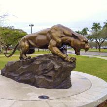 Бронзовая скульптура статуя Пантера талисман Пума