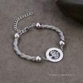 Árvore de vida pulseira cadeia de aço inoxidável mulheres pulseira