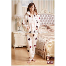 Tejido de franela caliente mujer pijama