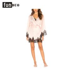 2018 шелк женщины халат с длинным рукавом кружева пижамы для женщин 2018 шелк женщины халат с длинным рукавом кружева пижамы для женщин