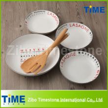 Hot Sale Decal Porcelain Pasta Bowl