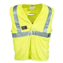 Men's High-Visibility Reflective Lime Safety Vest