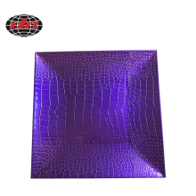 Purple Crocodile Skin Plastic Charger Plate
