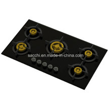 Supreme Unique Five Brass Burner Gas Hob (8mm Glass)