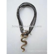 Горячие продажи Lampwork Стекло подвеска ожерелье Lampwork стекла Ожерелье murano стеклянный кулон с восковым шнуром