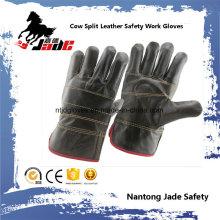 Dark Furniture Cowhide Leather Industrial Safety Work Glove
