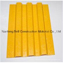 Glasfaserplatte, glasfaserverstärkte Kunststoffplatte, FRP Anti-Rutsch-Trittplatte.