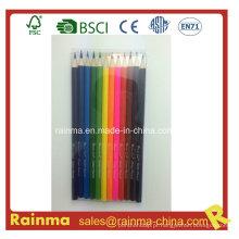 """12colors 7 """"lápis de cor de madeira em embalagem de caixa de pvc"""