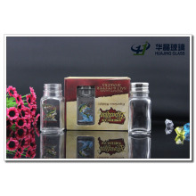 70ml High Flint Cheaper Square Shape Glass Curry Bottle with Tin Cap in Beautiful Box Hot Sale