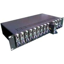 14 slot fiber media converter chassis
