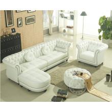 Simple estilo europeo de cuero sofá de la esquina
