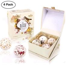 LADES 4PCS Spa Bubble Bath Bombs juego de regalo