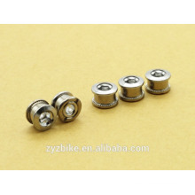 ANTS BICYCLE STEEL SINGLE CHAINRING CRANK NUTS BOLTS SCREWS - SILVER