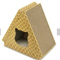 Corrugated Cardboard Cat Scratcher Toy With Catnip