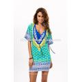 2017 Sommermode gedruckt Strandkleid Handel Leopard Mode